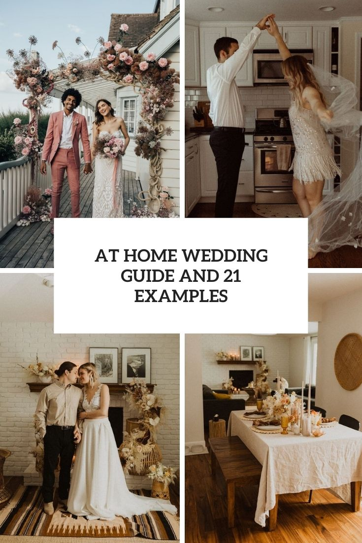 At Home Wedding Guide And 21 Examples