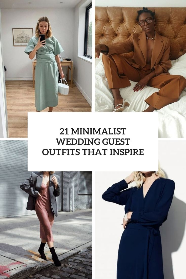 21 Minimalist Wedding Guest Outfits That Inspire