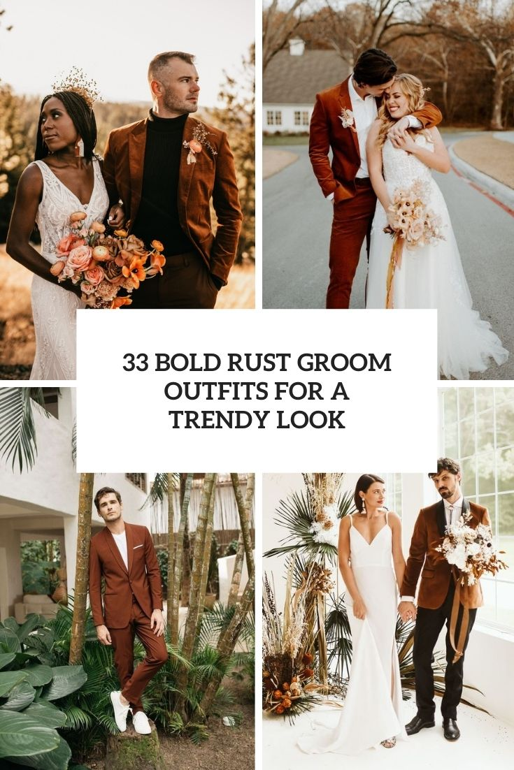 bold rust groom outfits for a trendy look cover