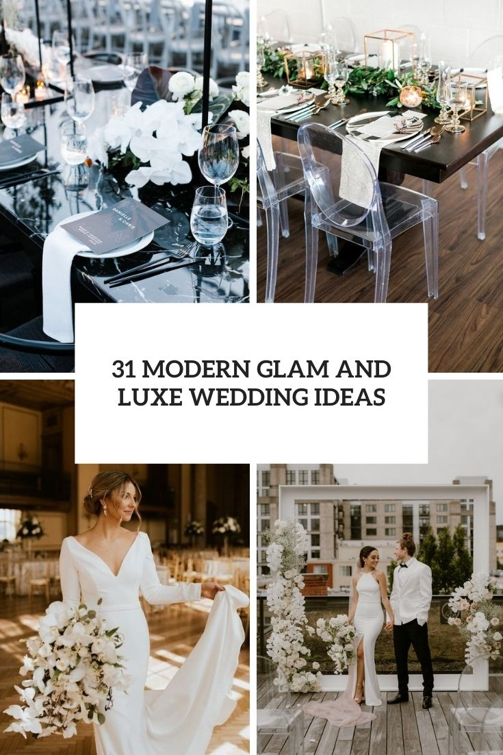 31 modern glam and luxe wedding ideas cover