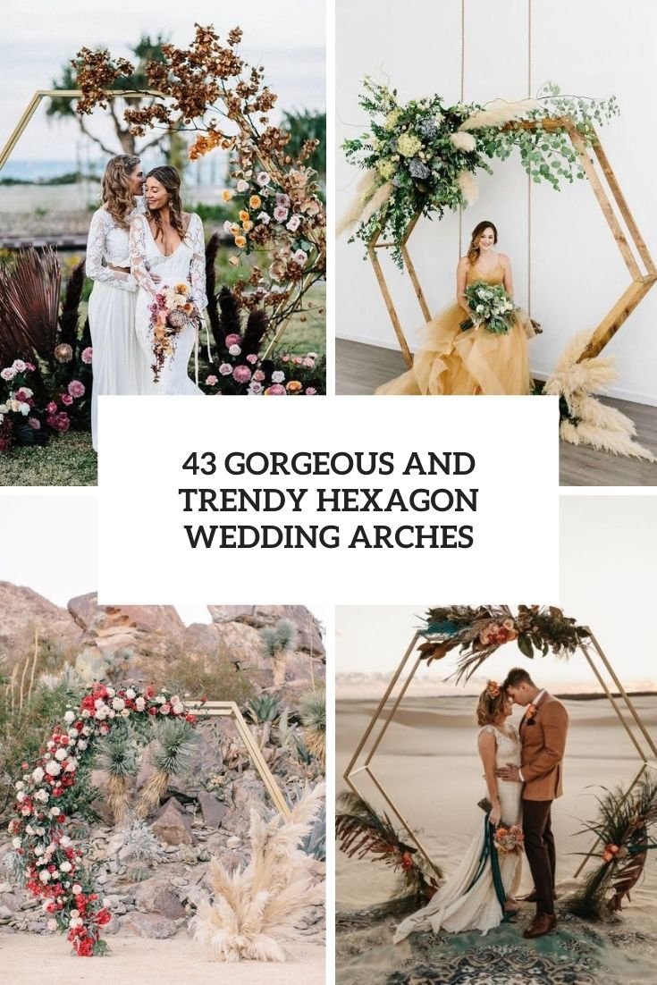 gorgeous and trendy hexagon wedding arches cover