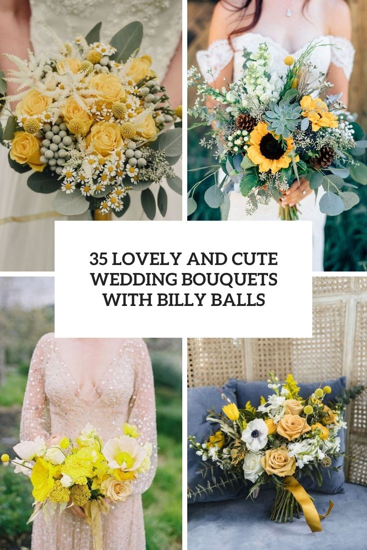 lovely and cute wedding bouquets with billy balls cover