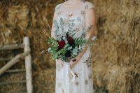 a cute sheath wedding dress