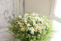 a neutral summer wedding bouquet