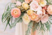 a cute bright wedding bouquet