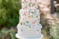 a cute pastel wedding cake