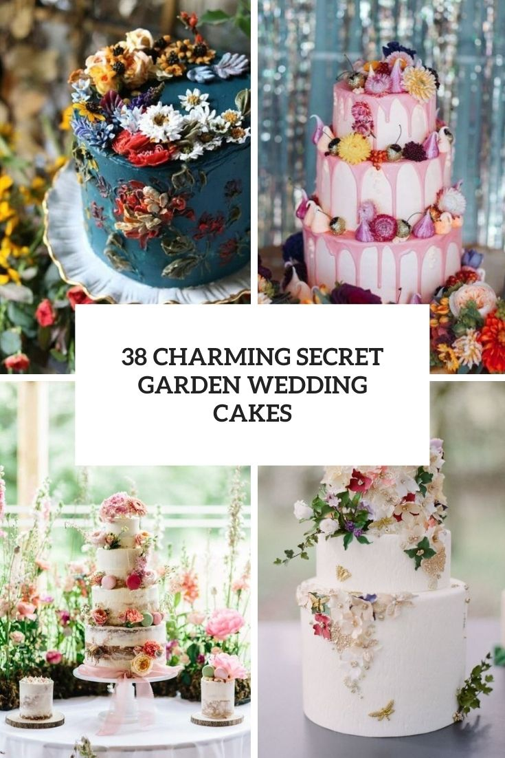 charming secret garden wedding cakes cover