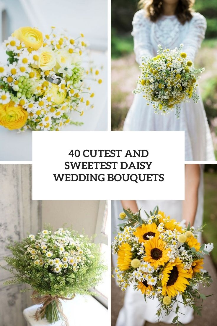 cutest and sweetest daisy wedding bouquets cover