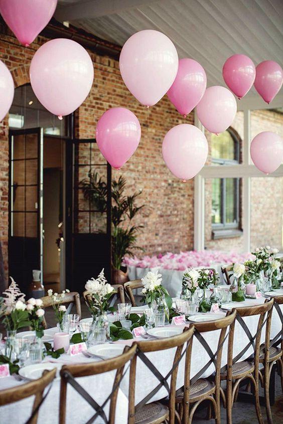 a cute summer bridal shower tablescape