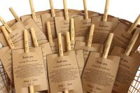 13 bamboo straws are cute and thoughtful wedding favors that will help your guests cut out sngle-use plastic ones and become more eco-friendly
