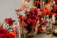 Cool, Modern Bridal Inspiration in Pinks, Reds and Coral Hues