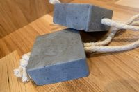 20 environmentally clean, charcoal and tea tee cleansing soap on a rope favours are amazing to add a spa touch to any bathroom