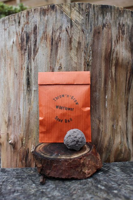 this wildflower seed ball contains a seed mix of easy to grow wildflowers selected to support bees, butterflies and other beneficial insects