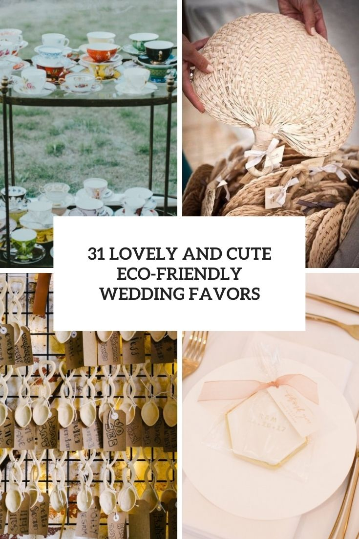 lovely and cute eco friendly wedding favors cover