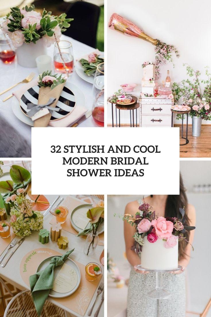 32 Stylish And Cool Modern Bridal Shower Ideas