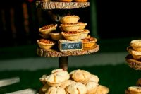 39 home pies can be an alternative to a usual wedding cake or an addition to the dessert table are lovely for a fall wedding