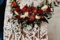 a cute fall wedding bouquet