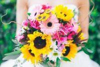 a gorgeous colorful wedding bouquet