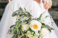 a cute spring wedding bouquet alternative