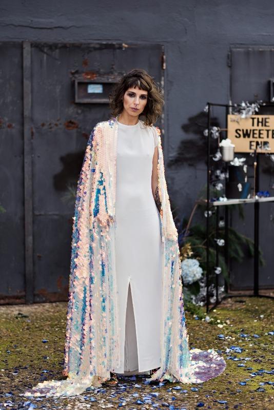 a modern minimalist wedding dress