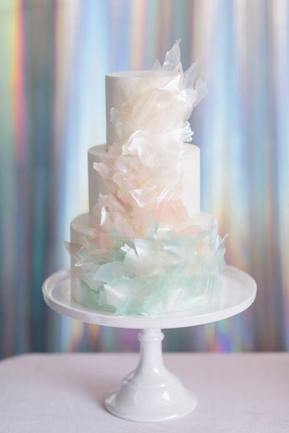 a cute buttercream wedding cake