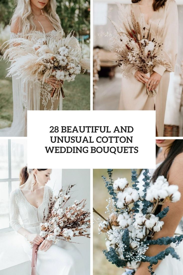beautiful and unusual cotton wedding bouquets cover