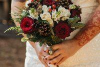 a cute Christmas wedding bouquet