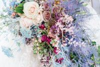 a gorgeous cascade wedding bouquet