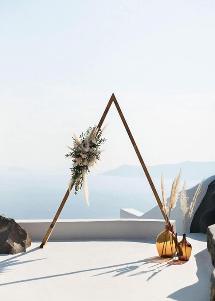 a triangle wedding design