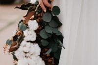 a cute modern wedding bouquet