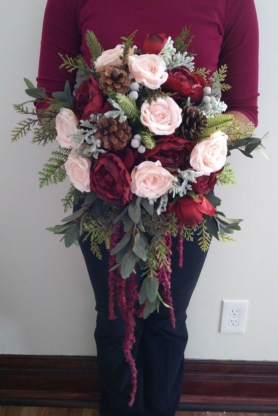 a cascade wedding bouquet