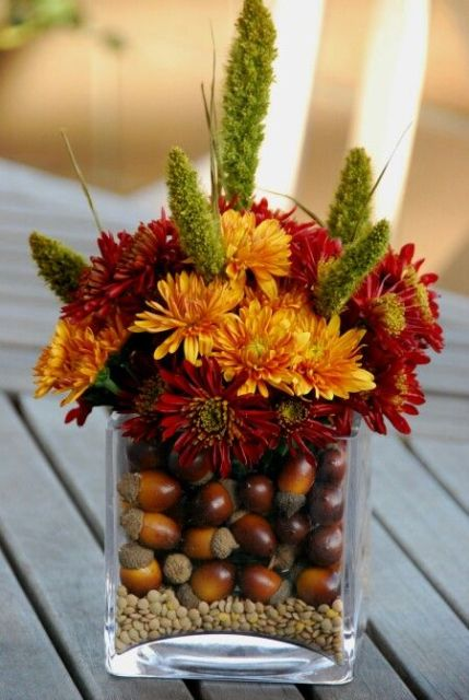 Picture Of Acorn Decor Ideas For Your Fall Wedding 11
