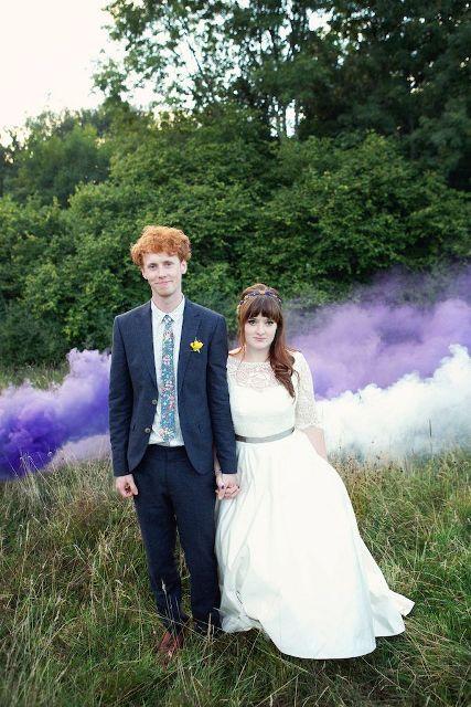 Awesome Smoke Bomb Wedding Ideas