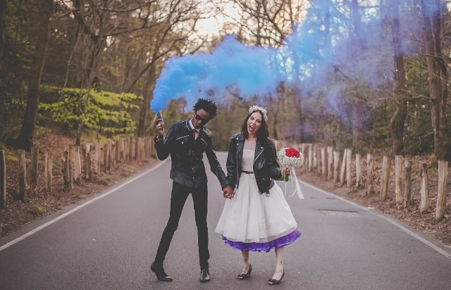 Picture Of Awesome Smoke Bomb Wedding Ideas 2