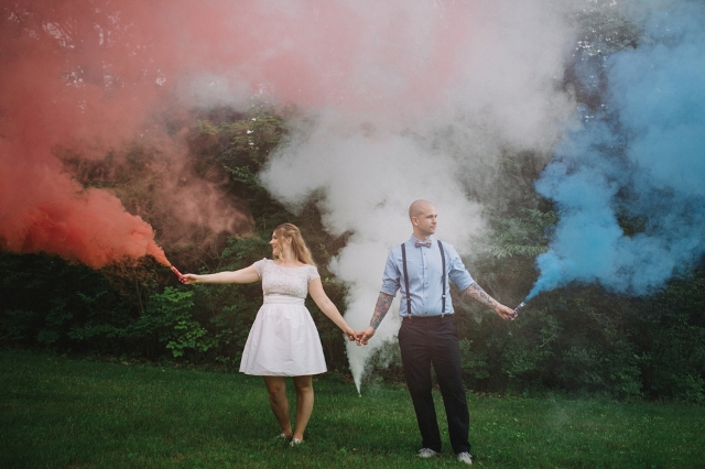 Picture Of Awesome Smoke Bomb Wedding Ideas 4