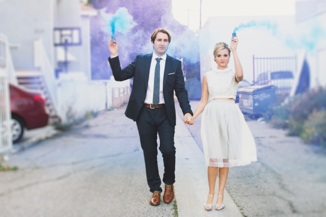 Picture Of Awesome Smoke Bomb Wedding Ideas 5