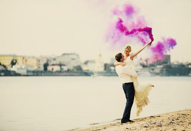 Picture Of Awesome Smoke Bomb Wedding Ideas 8