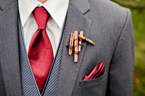 21 Creative Non-Floral Boutonnieres For Grooms And Groomsmen