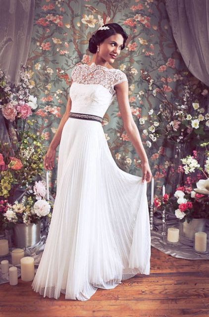 Graceful Pleated Wedding Gowns