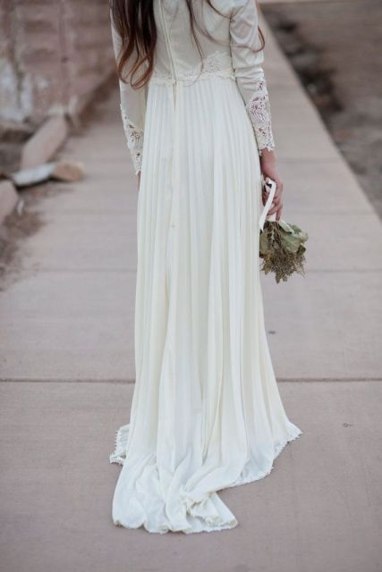 Picture Of Graceful Pleated Wedding Gowns 10