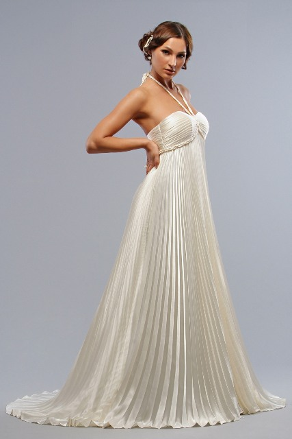 Picture Of Graceful Pleated Wedding Gowns 15