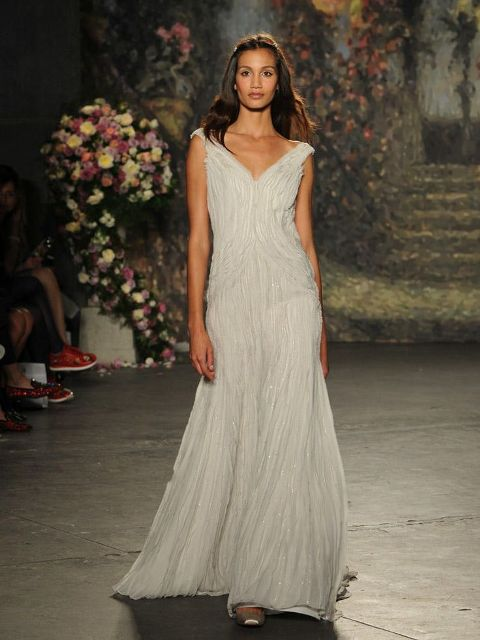 Picture Of Graceful Pleated Wedding Gowns 16