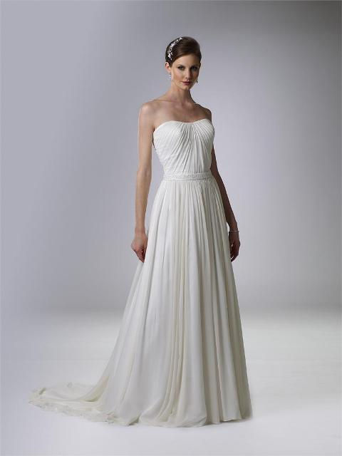 Graceful And Subtle Pleated Wedding Gowns