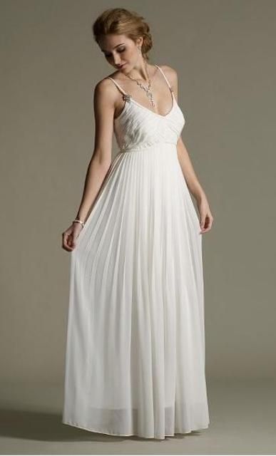Picture Of Graceful Pleated Wedding Gowns 5