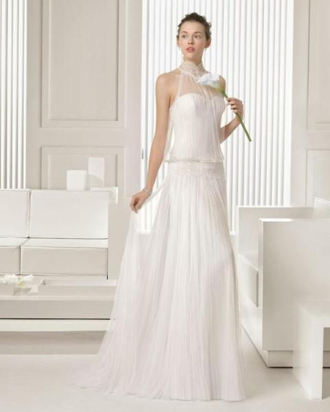 Picture Of Graceful Pleated Wedding Gowns 9