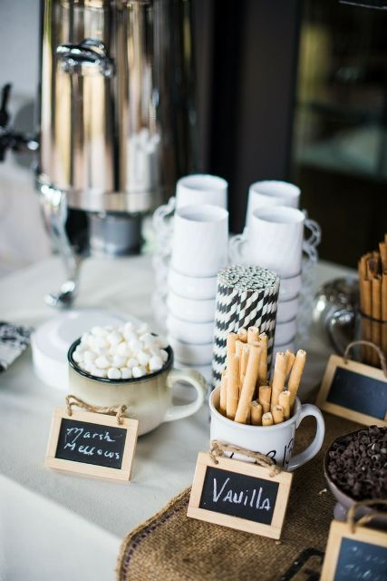 Picture Of Hot Cocoa And Chocolate Bar Ideas For Your