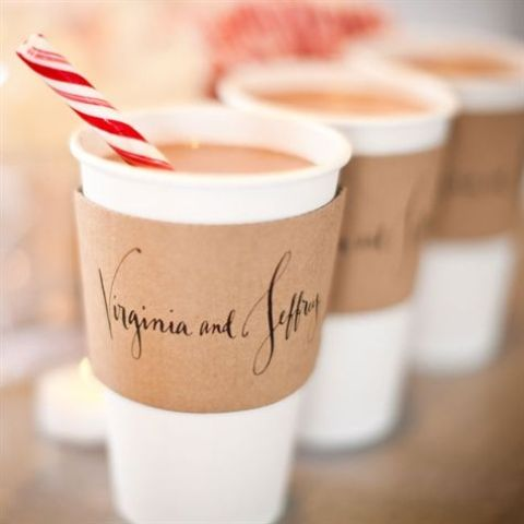 mark the cups with printed holders and serve colorful straws to make them cooler