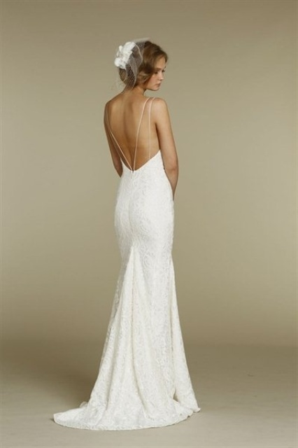 20 Spaghetti Strap Backless Wedding Gowns Weddingomania - Spaghetti Strap Wedding Dresses
