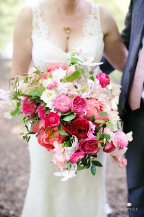 Most Gorgeous Garden Rose Bridal Bouquets