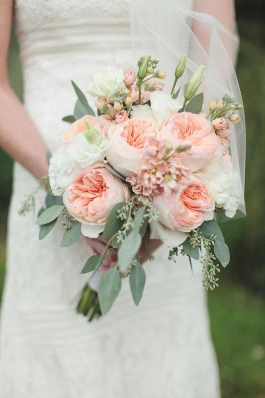 Picture Of most gorgeous garden rose bridal bouquets  15